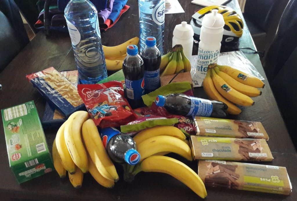 Eten en drinken voor lange fiets rit